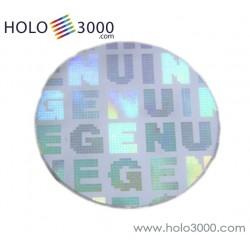 """Ologramma adesivo """"GENUINE"""" Tondo d.10mm (1x507 pz)"""