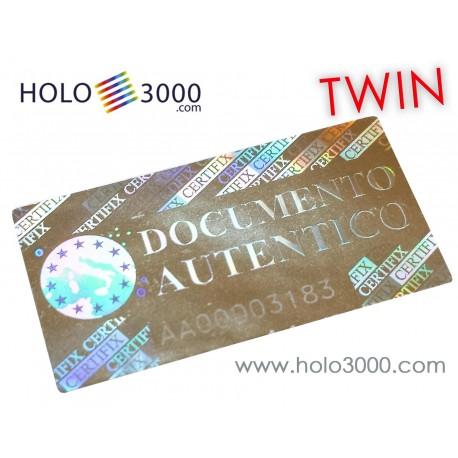 """Ologramma adesivo """"CERTIFIX DOCUMENT"""" 17x33mm TWIN NUMBERS(160 pz)"""