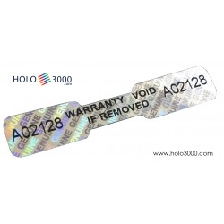 Hologram sticker SEAL WARRANTY 47x9mm (210 pcs)