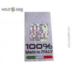 "Warranty sticker customizable + hologramOlogramma ""CERTIFIX TESSILE"" 30x55mm (200 pz)"
