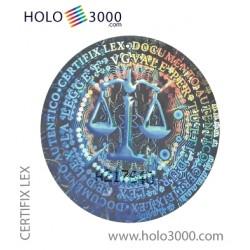 """Hologram sticker """"CERTIFIX LEX"""" D.25mm (180 pz)"""
