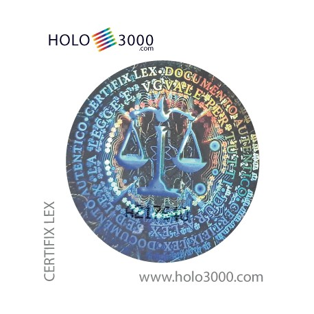 "Ologramma adesivo ""CERTIFIX LEX"" D.25mm (180 pz)"